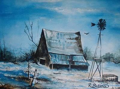A Blue Winter In Texas Art Print by Robert Ballance