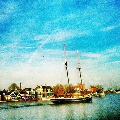 Dutch Photograph - A Boat On The Zaan. #holland #dutch by Wilbert Claessens