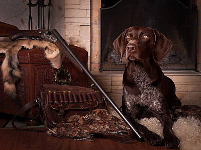 Gun Dog Painting - A Born Hunter... by Tanya Kozlovsky