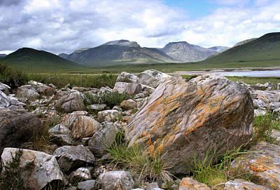 Photograph - A Boulder Near Loch Garve by Joe Macrae