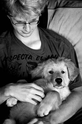 Photograph - A Boy And His Dog by Lorraine Devon Wilke