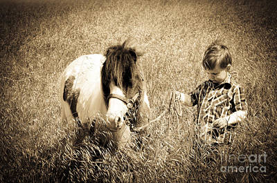 Photograph - A Boy And His Horse by Jim And Emily Bush