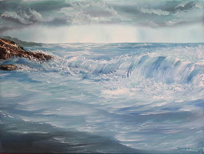 Art Print featuring the painting A Break In Storm by Christie Minalga