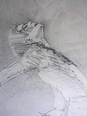Michael Jackson Drawing Drawing - A Breath by Hitomi Osanai