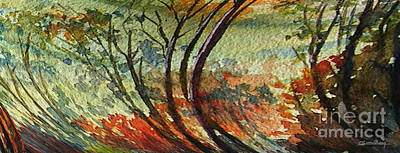 Thunder Painting - A Breath Of Trees by Christian Simonian