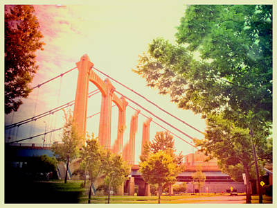 Toy Camera Digital Art - A Bridge In Minneapolis  by Susan Stone