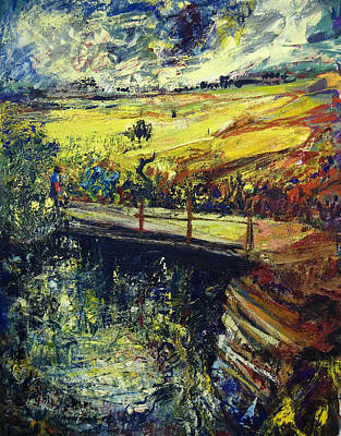 Jewish Painter Painting - A Bridge Over The Dan Stream by Naftali Salomon