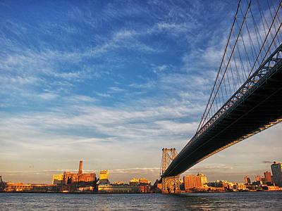 Photograph - A Bridge To Williamsburg by Cornelis Verwaal