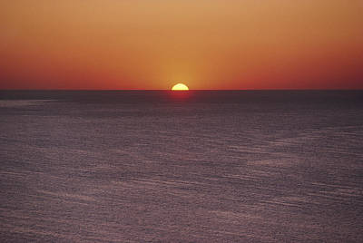 A Brillant Orange Sun, Painting Art Print by James L. Stanfield