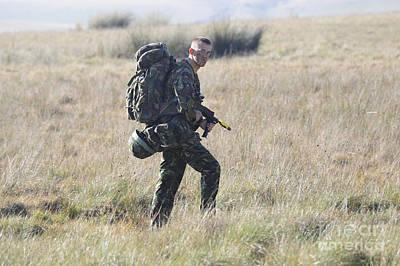 A British Army Soldier On Foot Patrol Art Print