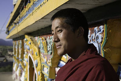 A Buddhist Monk Near The Edge Print by David Evans