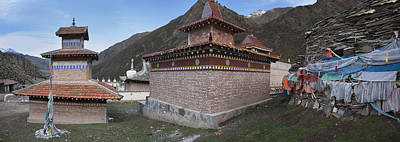 Tibetan Buddhism Photograph - A Buddhist Temple Near Xeushan Township by Phil Borges