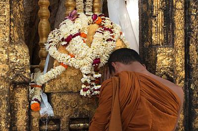 A Budhist Devotee Original by Mukesh Srivastava