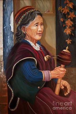 A Budhist Lady Art Print by Rajdev S