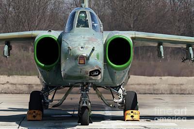 Sukhoi Photograph - A Bulgarian Air Force Sukhoi Su-25k by Anton Balakchiev
