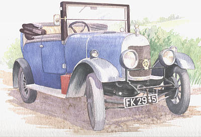 Painting - A Bull-nose Morris by Maureen Carter