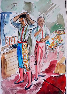 A Bullfighter's Dressing Room Art Print by Bill Joseph  Markowski