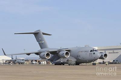 A C-17 Globemaster IIi Parked Art Print by Stocktrek Images