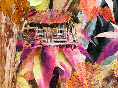 A Cabin In The Woods - A Novel Art Print by Larry Bishop