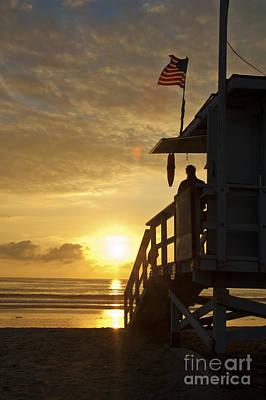A California Sunset Art Print by Micah May