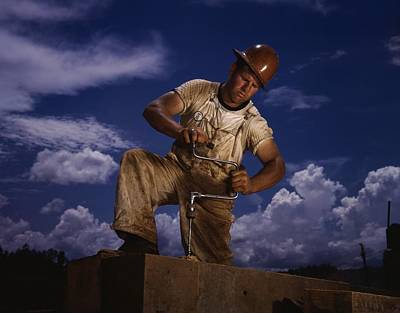 Tva Photograph - A Carpenter Working At The Tennessee by Everett