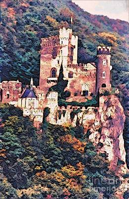Painting - A Castle Above The Rhine by Phyllis Kaltenbach