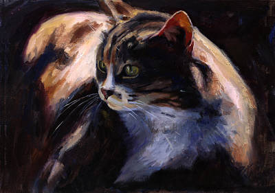 Painting - A Cat's Life by Billie Colson
