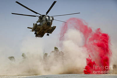 Operation Enduring Freedom Photograph - A Ch-53d Sea Stallion Helicopter by Stocktrek Images