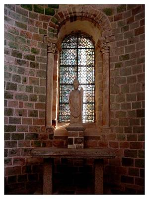Photograph - A Chapel At Mont St. Michel by Frank Wickham