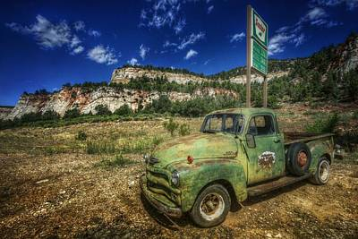 Photograph - A Chevy And Checkerboard Mesa by Christine Annas
