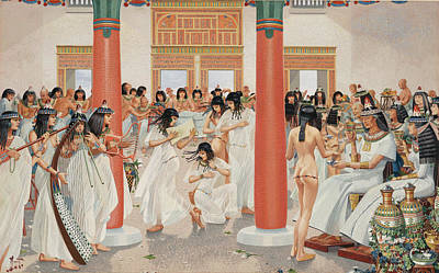 A Chief Priest Gives A Formal Banquet Art Print by H.M. Herget