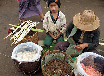 Photograph - A Child In The Market Of Aungban - Myanmar by RicardMN Photography
