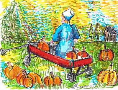 A Child's Joy  Art Print by Jon Baldwin  Art