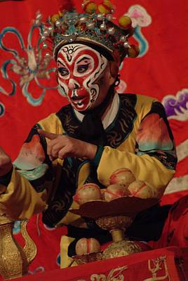 A Chinese Opera Performer In Monkey Art Print by Richard Nowitz