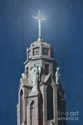 A Church Tower Art Print by Donna Greene
