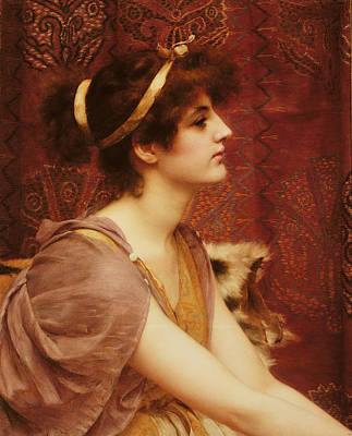A Classical Beauty Art Print by John William Godward