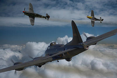 Opposing Forces Photograph - A Close Encounter by Ken Brannen