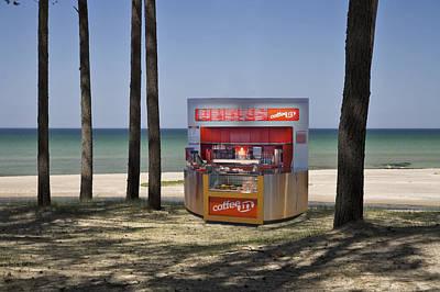 A Coffee Bar And Drinks Kiosk Art Print by Jaak Nilson