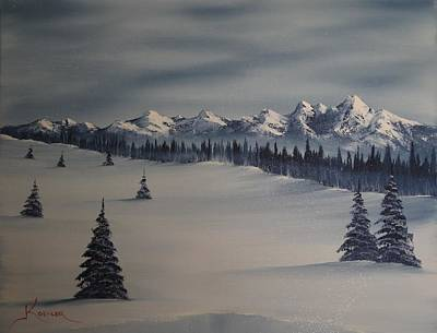 A Cold Winter Slope Original by John Koehler