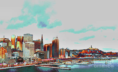 A Colorful San Francisco Art Print