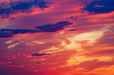 Blend Photograph - A Colorful Sky by Carson Ganci