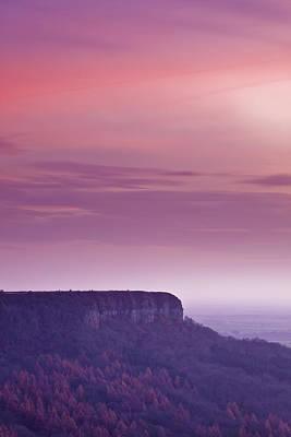 A Colourful Sunset Over Sutton Bank Art Print by Julian Elliott Ethereal Light