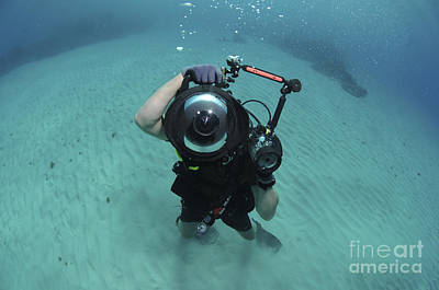 Fish-eye Look Photograph - A Combat Photographer Familiarizes by Stocktrek Images