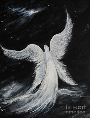 Painting - A Comforting Angels Prayer by Leslie Allen