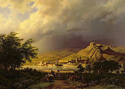 Storm Clouds Painting - A Coming Storm by Barend Cornelis Koekkoek