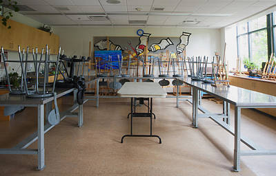 A Community Centre Art Room And Studio Print by Marlene Ford