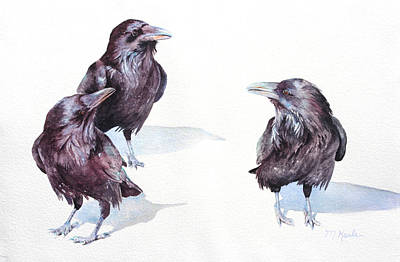 Painting - A Conspiracy Of Ravens by Marsha Karle