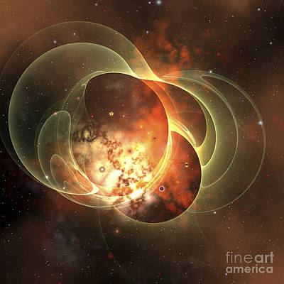 Constellation Digital Art - A Constellation Sits Inside Encircling by Corey Ford