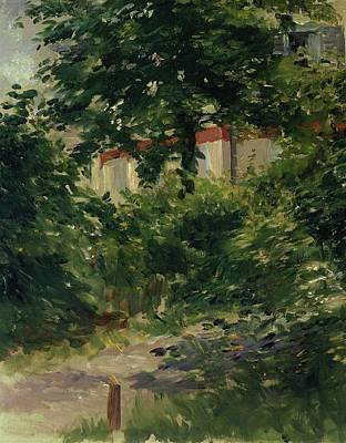 A Corner Of The Garden In Rueil Print by Edouard Manet