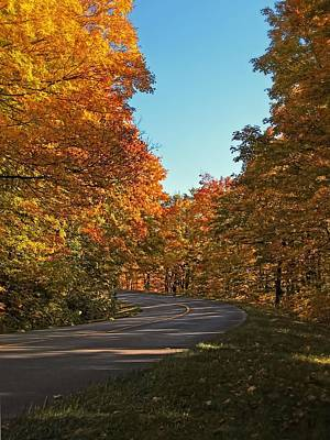 Photograph - A Country Road In A Fall Landscape by Chantal PhotoPix